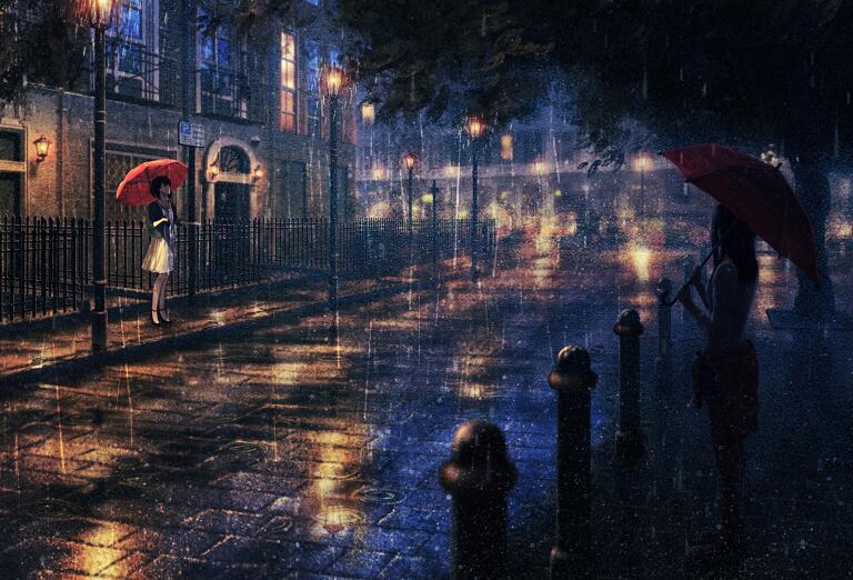 雨中记忆唯美街景