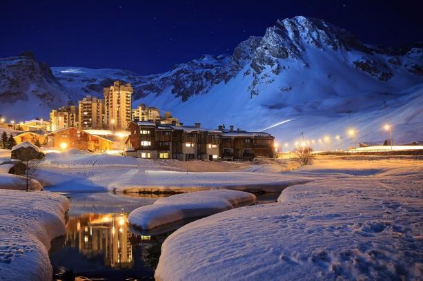 冬天风景雪景夜晚
